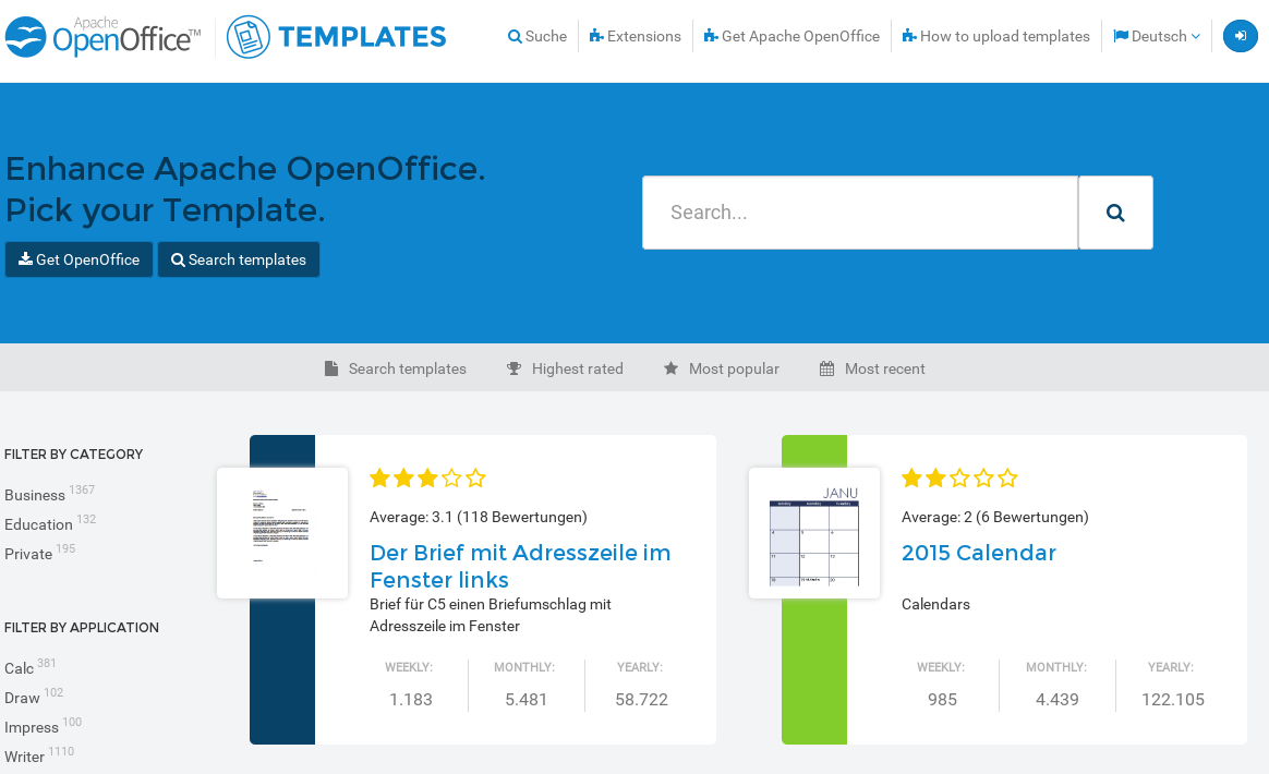 open office themes
