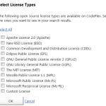 Codeplex Licenses Choice