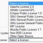 Google Code: Licenses choice