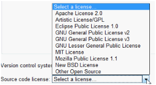 Google Code: Licenses choice