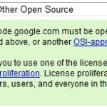GoogleCode License Choice