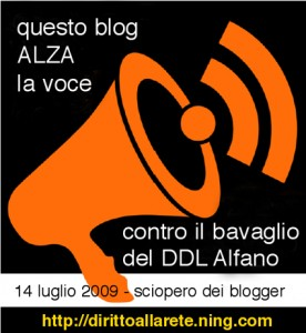 Italian blog strike for Internet Freedom